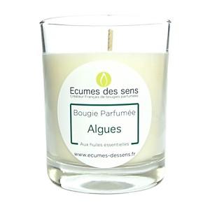 Bougie parfumée aux algues aux huiles es