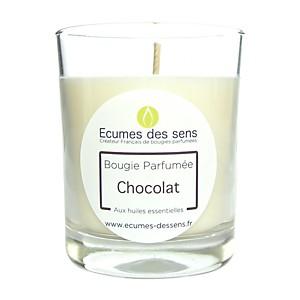 Bougie parfumée au chocolat aux huiles e