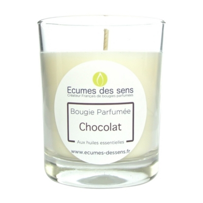 Bougie parfumée au chocolat aux huiles essentielles
