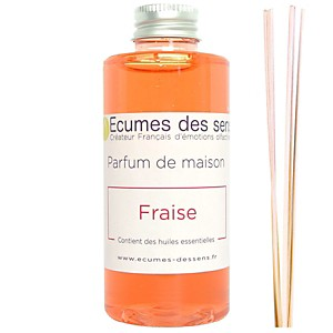 Parfum de maison senteur Fraise enrichi en huiles essentielles