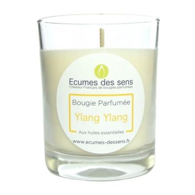 Bougie parfumée au ylang-ylang aux huiles essentielles