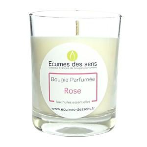 Bougie parfumée à la rose aux huiles es