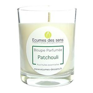 Bougie parfumée au patchouli aux huiles