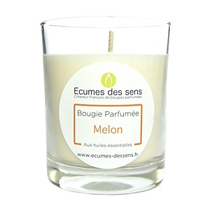 Bougie parfumée au melon aux huiles esse