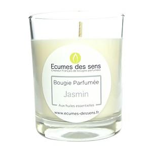 Bougie parfumée au jasmin aux huiles ess