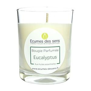 Bougie parfumée à l'eucalyptus aux huiles essentielles