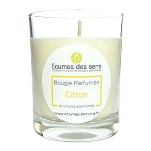 Bougie parfumée au citron aux huiles essentielles