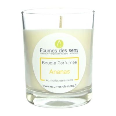 Bougie parfumée à l'ananas aux huiles essentielles