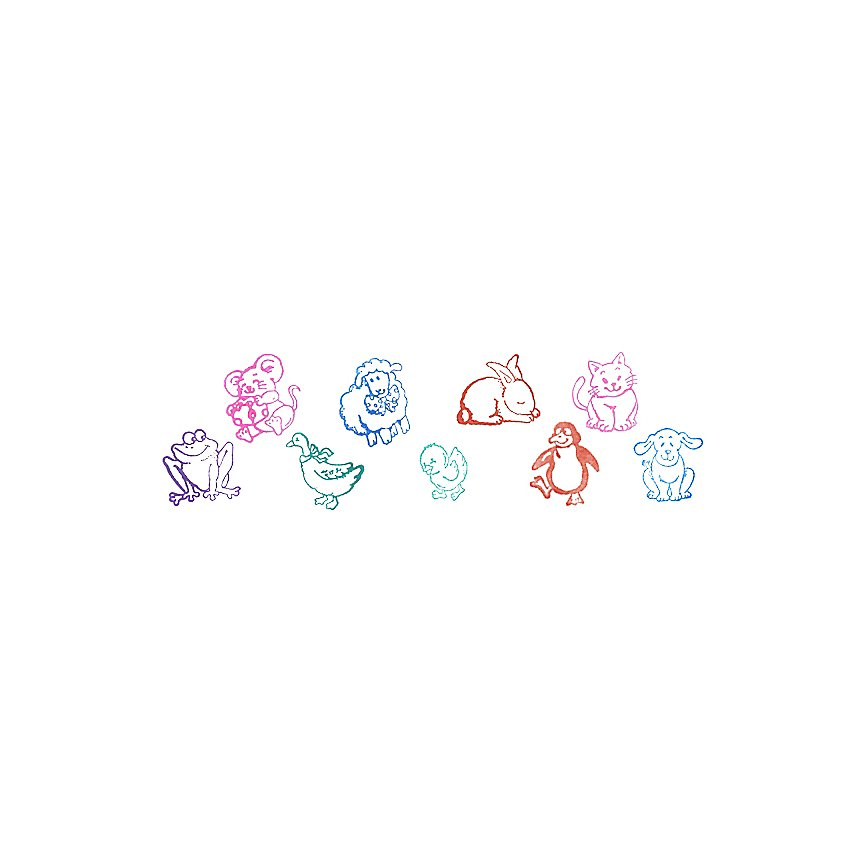Set de tampons encreurs animaux