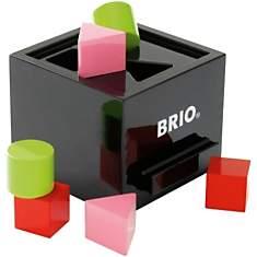 Boîte à formes laquée noire