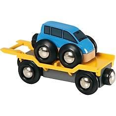Wagon Transport de voiture bleu