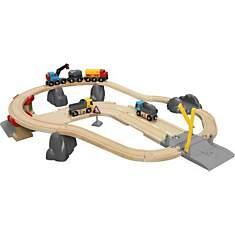 Ciruit rail route transport de roches