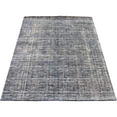 Tapis en laine bleu et gris Maori VIVABI