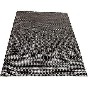 Tapis en coton noir et blanc Diamond VIVABITA