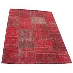 Tapis patchwork vintage rouge Topaz VIVA