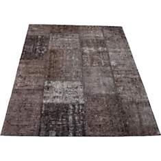 Tapis patchwork vintage gris Topaz VIVAB