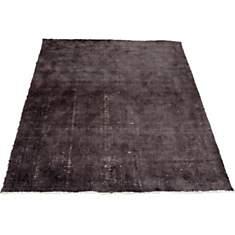 Tapis en laine vintage noir Bamboo VIVAB