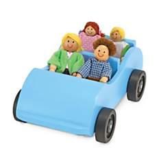 Ensemble voiture et poupées