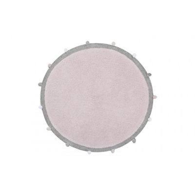 Tapis enfant rond rose Bubbly LORENA CANALS