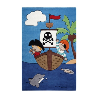 Tapis bleu tufté main Pirate Kids SMART KIDS