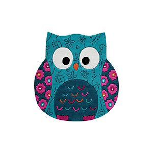 Tapis hibou turquoise Little Owl SMART KIDS