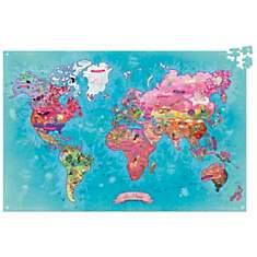 Puzzle carte du monde poétique
