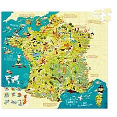 Puzzle Carte des merveilles de France