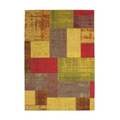 Tapis plat patchwork multicolore Mirage DELADECO