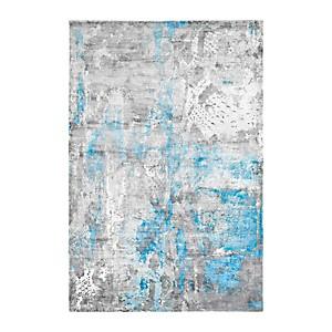 Tapis bleu en viscose Studio DELADECO