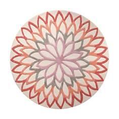 Tapis rond orange Lotus Flower ESPRIT HO