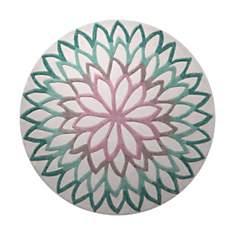 Tapis rond turquoise Lotus Flower ESPRIT