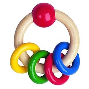Hochet anneaux colorés