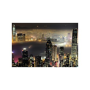 Tirage Photo Hong Kong de nuit