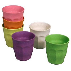 Lot de 6 tasses Zuperzozial Arc-en-ciel