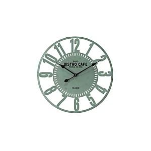 Horloge Bistro Café métal vert 60cm