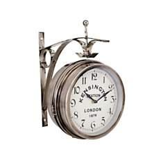 Horloge Gare argentée