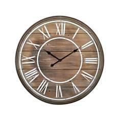 Horloge Lattes de bois 80cm