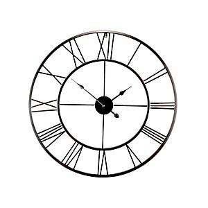Horloge métal ajouré noir 80cm
