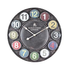 Horloge métal Pastilles colorées 60cm