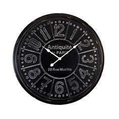 Horloge plaque Antiquité noire