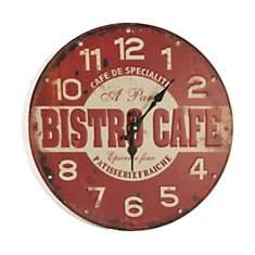Horloge rouge Bistro 40cm