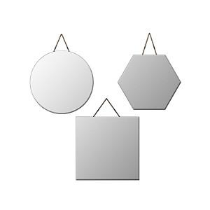 Lot de 3 miroirs découpés