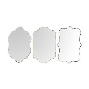 Lot de 3 miroirs vénitiens verre découpé