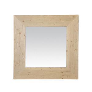 Miroir bois naturel carré
