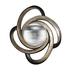 Miroir boucle noir et or