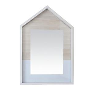Miroir cosy Maison bois blanc