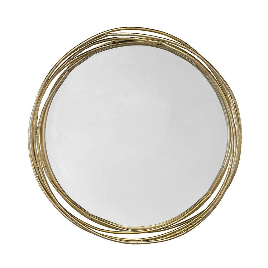Miroir design cercles entrelacés