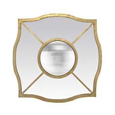 Miroir doré intérieur convexe