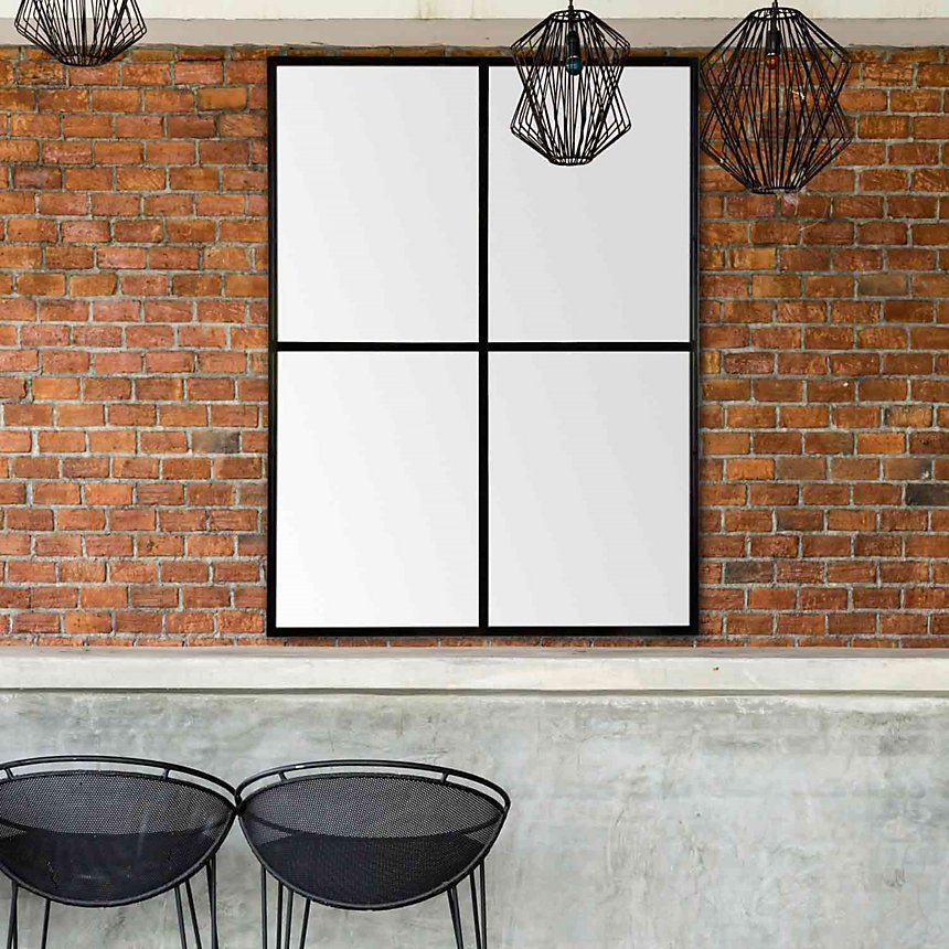 f52dcfc6a11d9a Miroir fenêtre noir 90x120