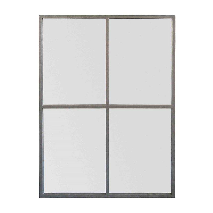 Miroir fenêtre zinc 90x120